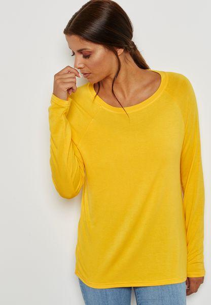 Long Sleeve Pleated Top