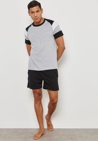 Colourblock Sleeve Nightwear Set