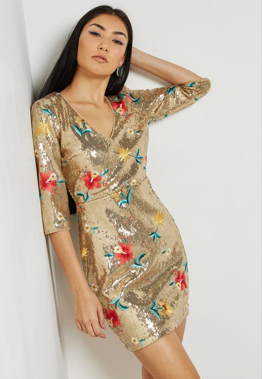 Embroidered  Sequins Dress