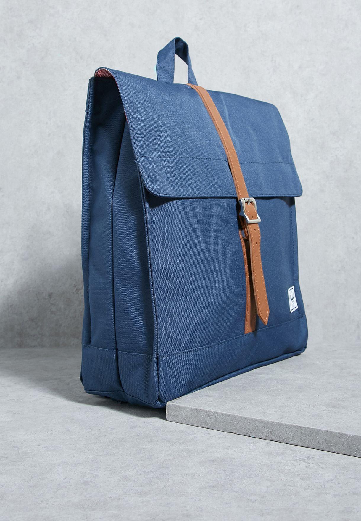 Shop Herschel navy Mid-Volume City Backpack 10089-00007-OS for Women ... f9a28c5d49a9f