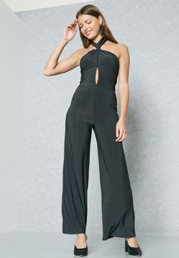 Crossover Ruched Jumpsuit