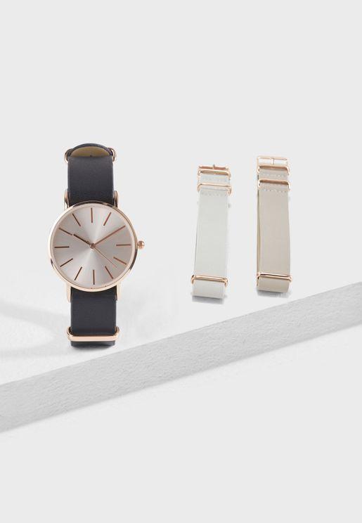 Multi Strap Watch Set