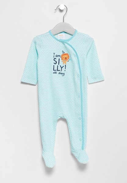 Infant Footed Party Animals Romper