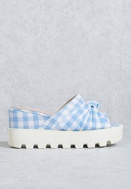 Minnie Bow Wedge Sandal