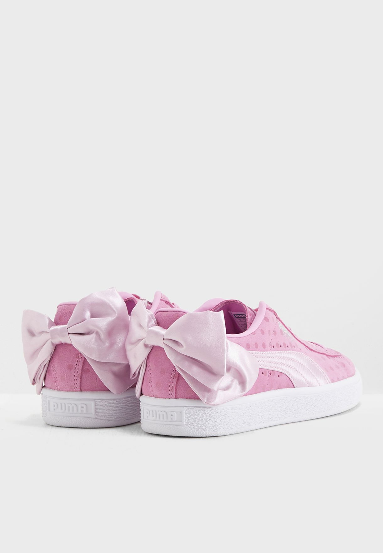 Youth Suede Bow Dots