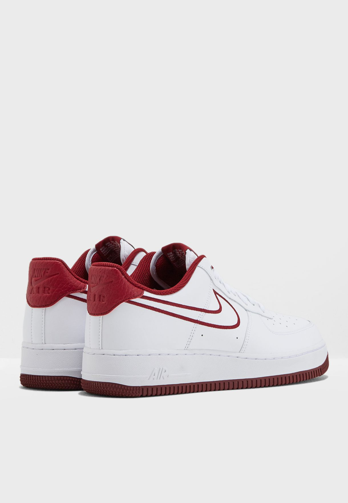 Nike Air Force 1 '07 Leather White Team Red AJ7280 100 Mens Womens Running Shoes aj7280 100