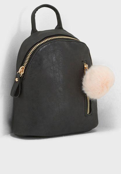 Santa Fe Pom Pom Backpack