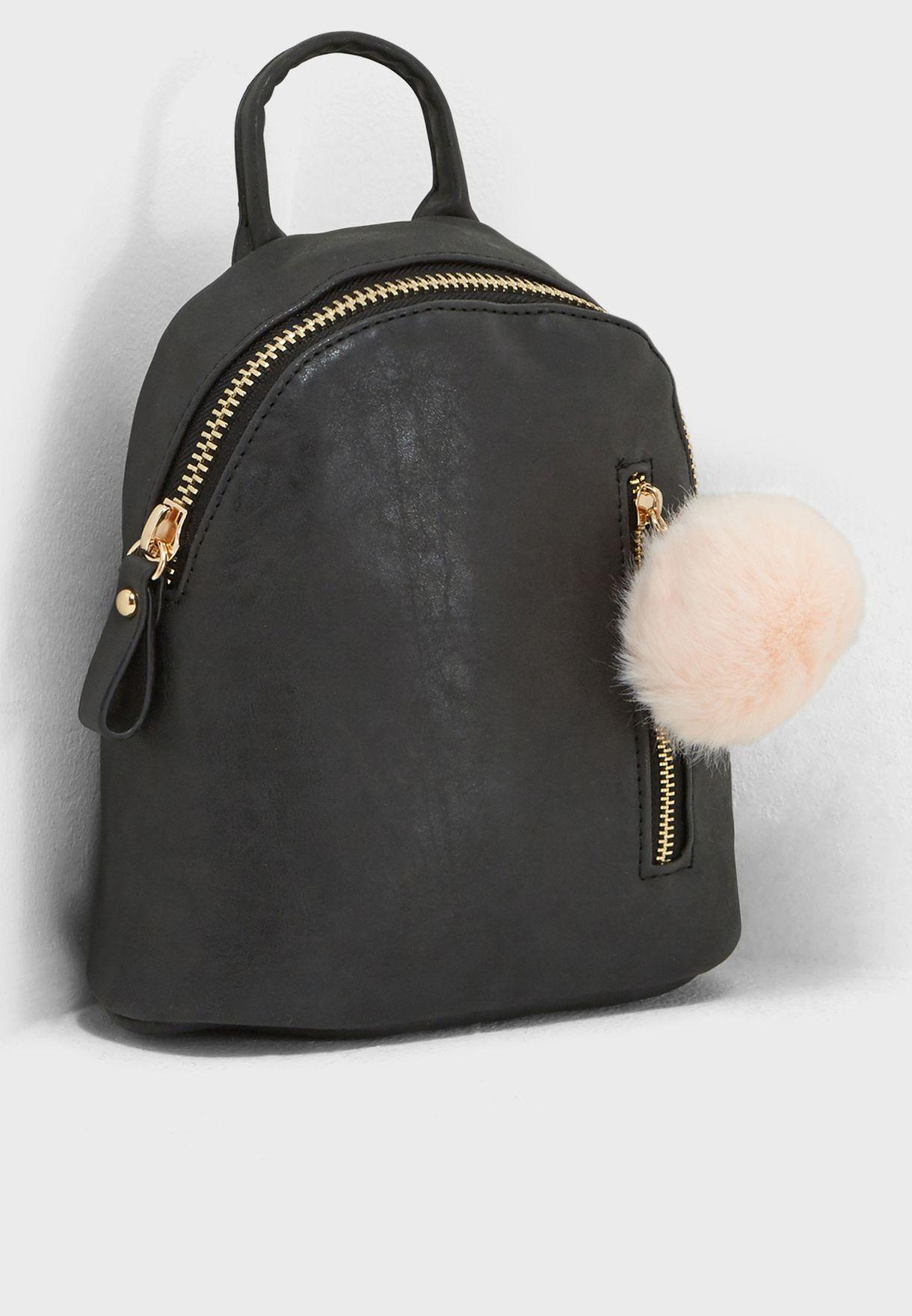 8e0acee98d Shop Typo black Santa Fe Pom Pom Backpack 141325-00 for Women in UAE ...