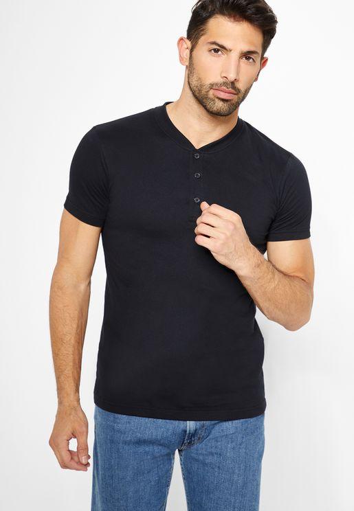 Henley Granded T-Shirt