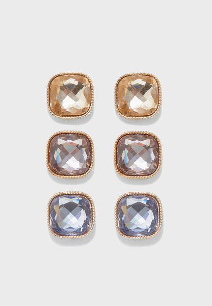 Pack of 3 Osher Earrings