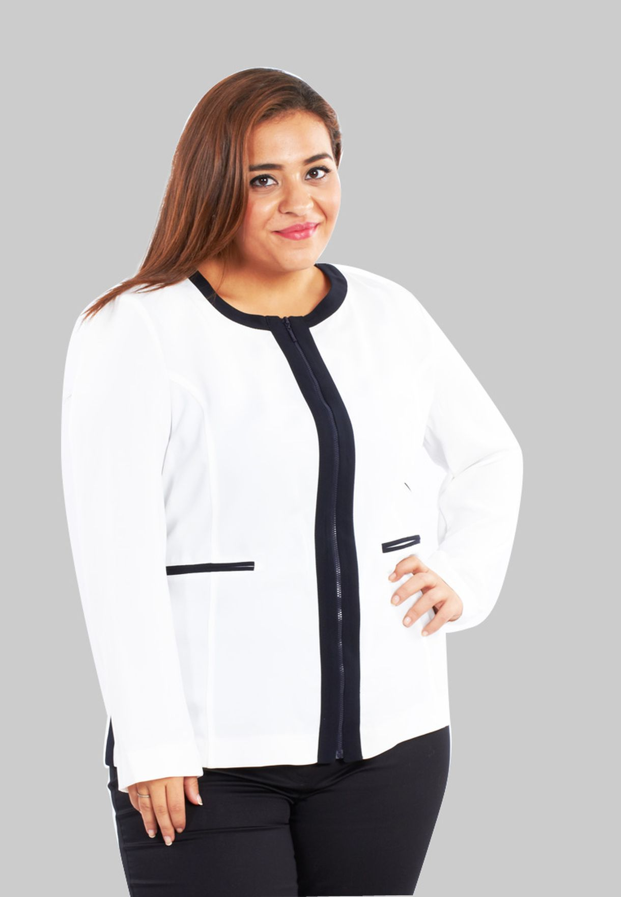 1481f718ef83 Shop Passo plus white Formal Cardigan for Women in Oman - PA061AT21REG