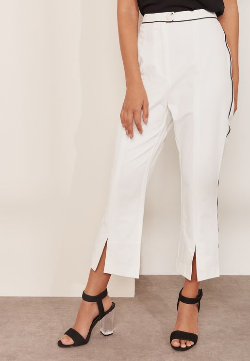 Mila Front Split Crop Pants