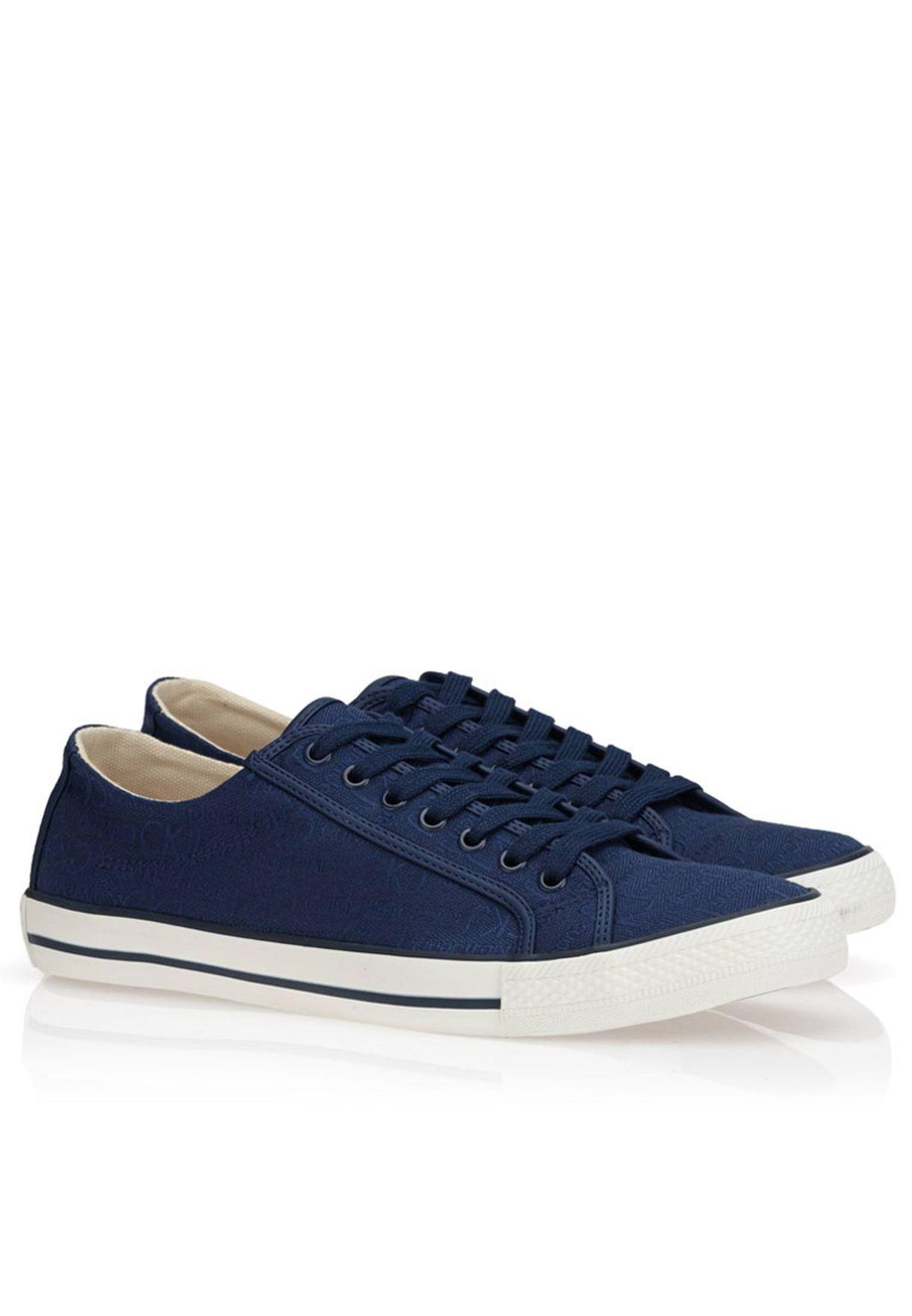 13d4e7a22f Shop Calvin Klein Jeans blue Orian Logo Sneakers for Men in Saudi -  CA787SH21TFA