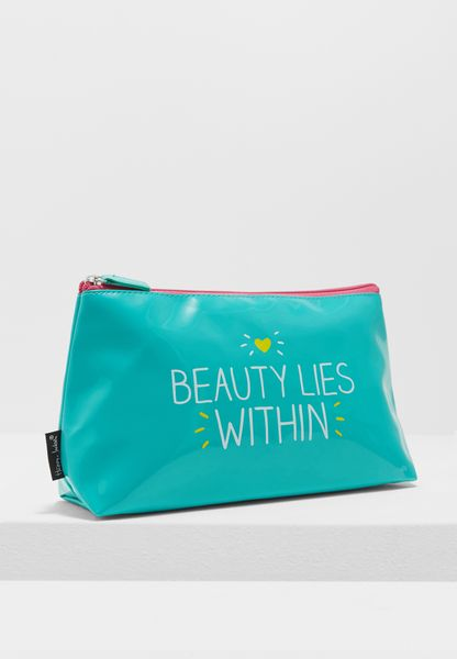 Beauty Lies Within Wash Bags