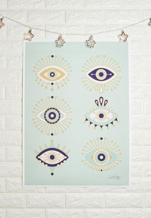 Evil Eyes Art Print 50x70cm
