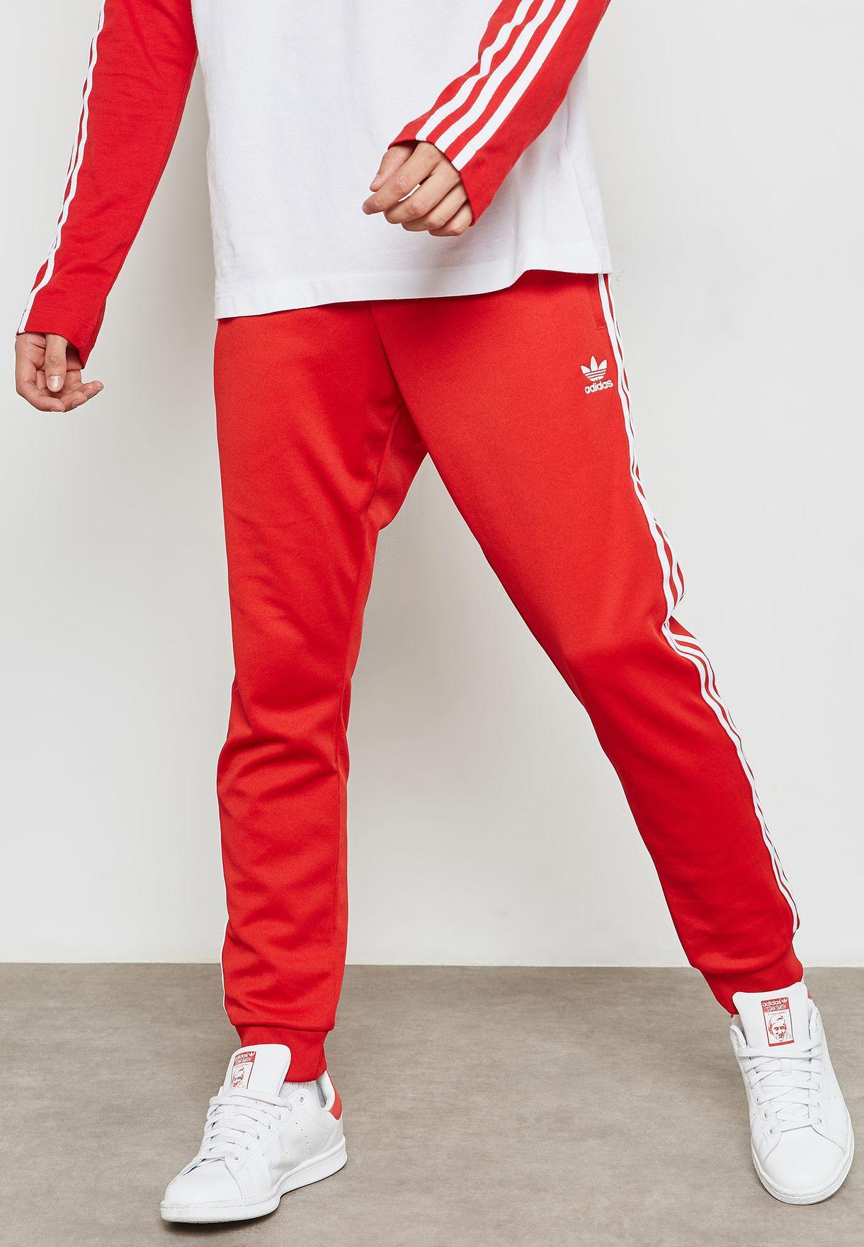 Buy adidas Originals red adicolor