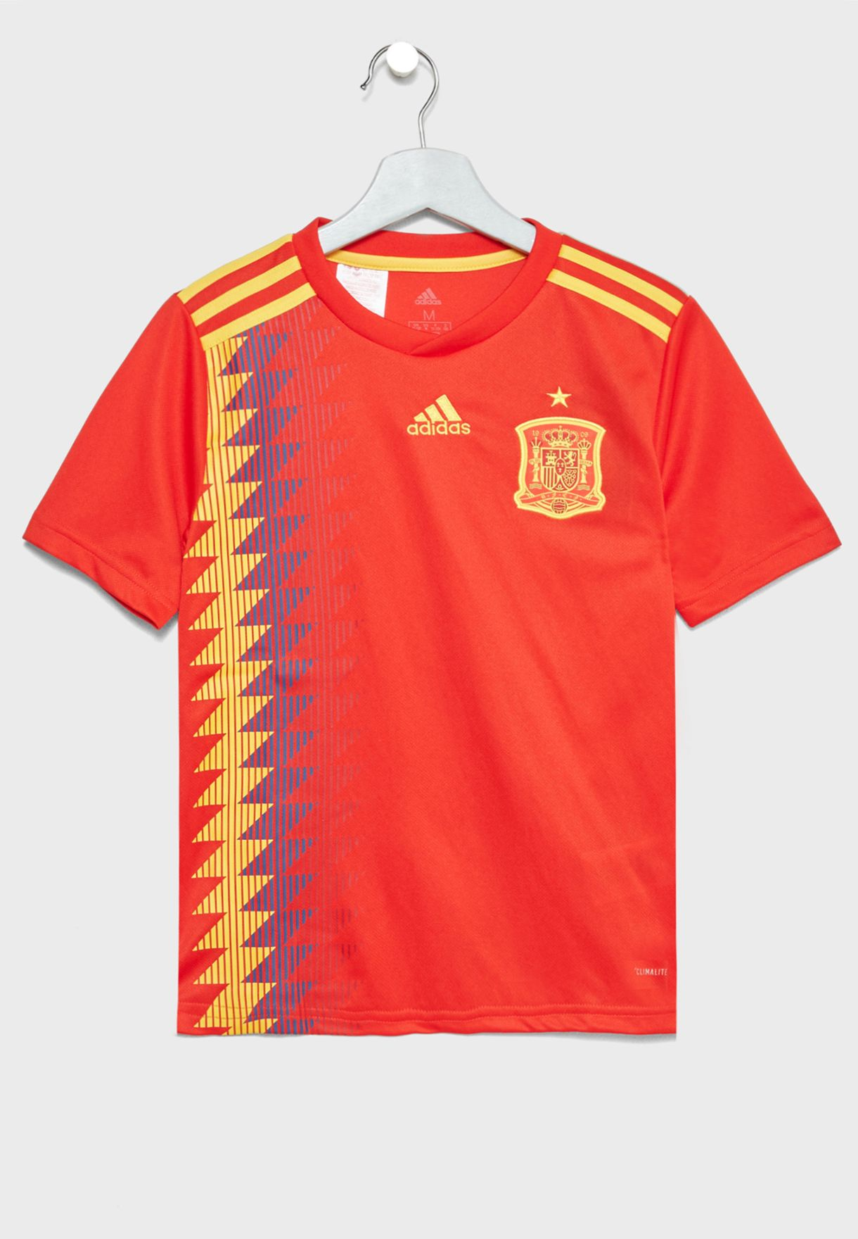 Shop adidas red Youth Spain Home Jersey BR2713 for Kids in Saudi -  AD476AT21NCS d02bc92d2