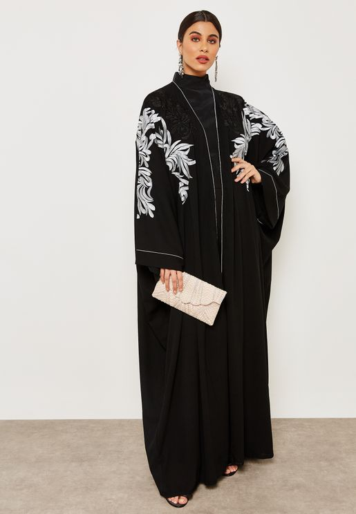 Embroidered Sleeve Abaya