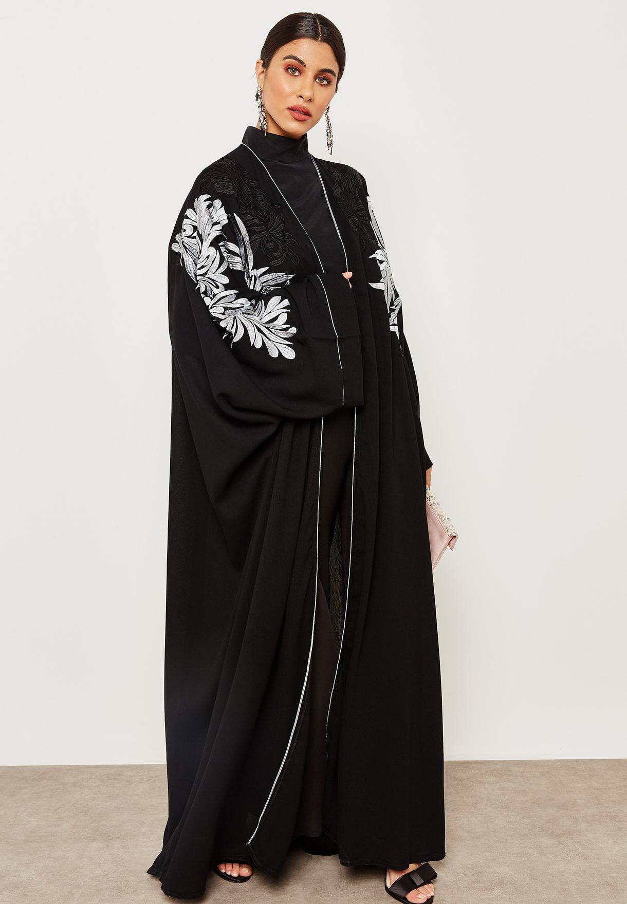 Embroidered Sleeve Abaya