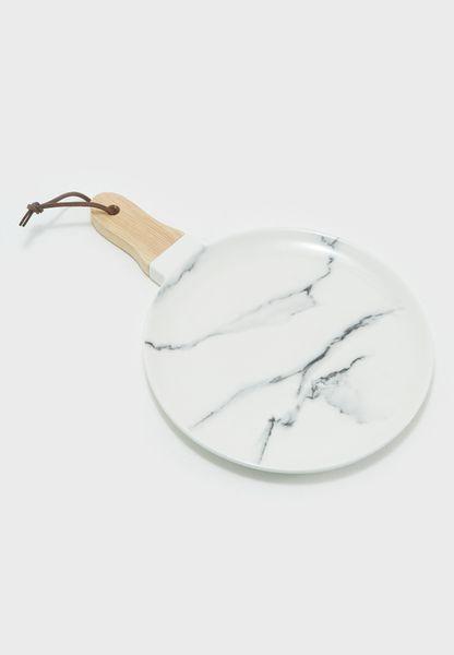Circular Marbled Serving Board