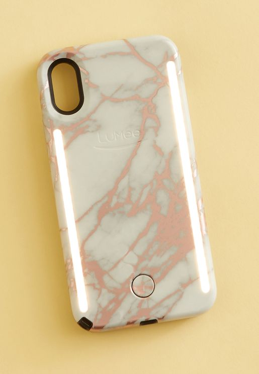DUO iPhone X - Metallic Rose White Marble