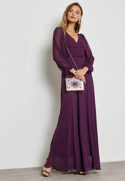 Puffed Sleeve Detail Dress