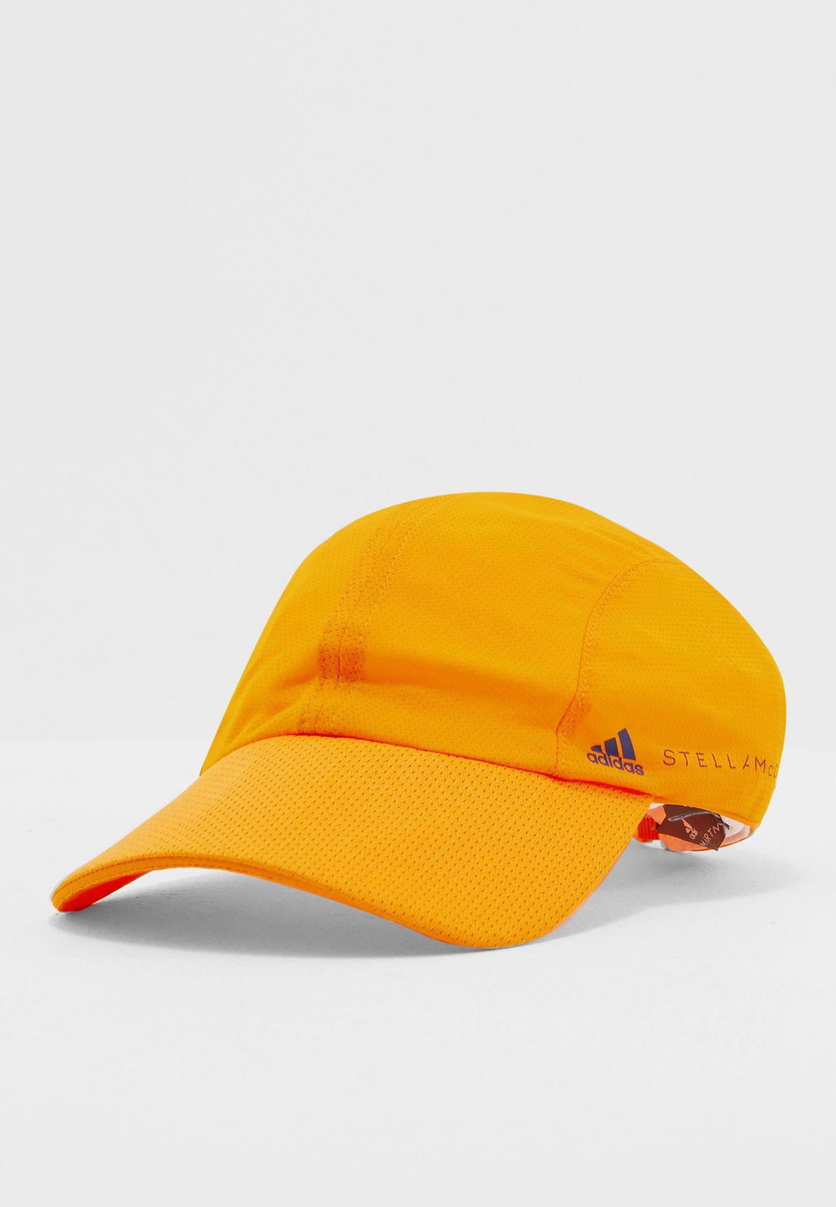 6779293c2e79a Shop adidas by Stella McCartney orange Run Mesh Cap CE3635 for Women ...