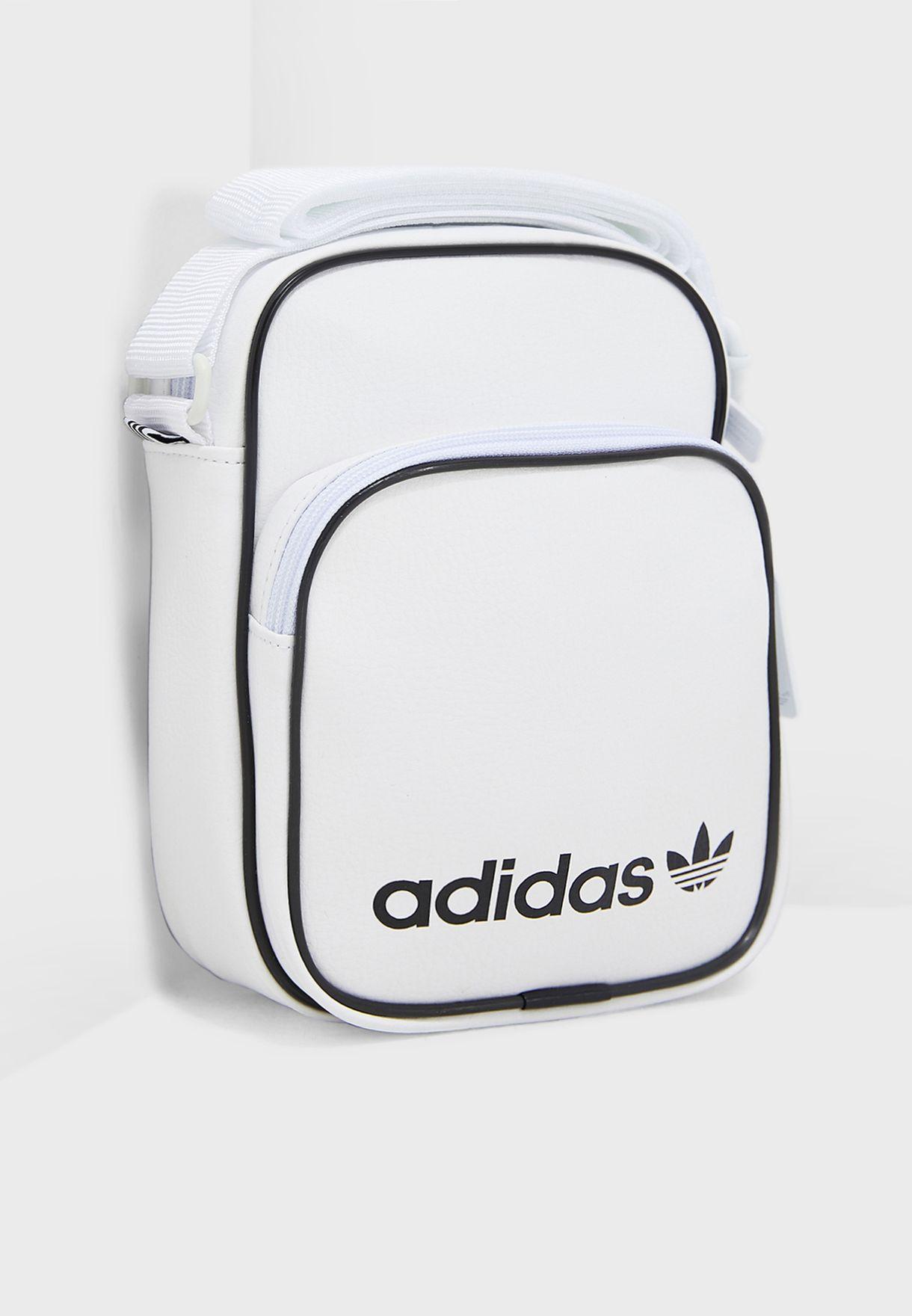 189c2a5f54fb Shop adidas Originals white Mini Vintage Messenger DV2491 for Women ...