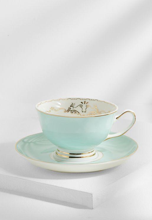 Miss Darcy Bird Teacup And Saucer Mint