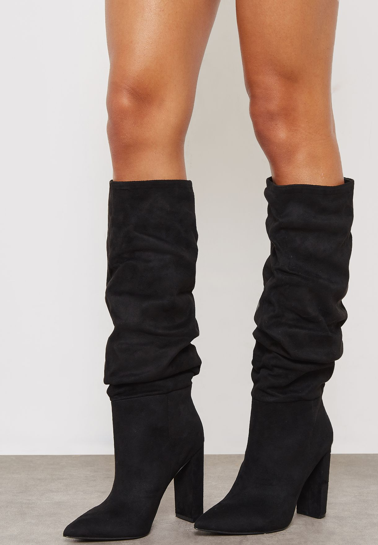 624a9cff94b Shop Steve Madden black Slouch Boot SLOUCH for Women in UAE ...
