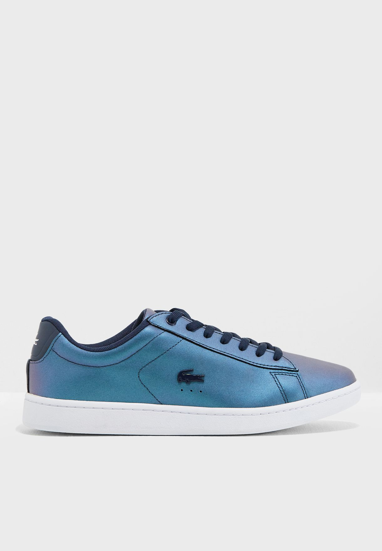 c5986ff1 Shop Lacoste blue Carnaby Evo 318 5 Spw Sneaker 736SPW0013 for Women ...