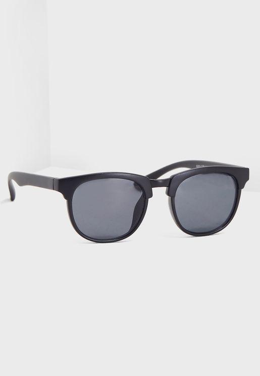 Kids Matte Finish Frame Sunglasses