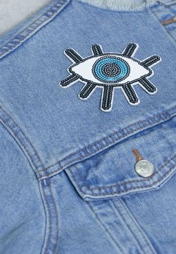 Evil Eye  Sequin Sticker Patch