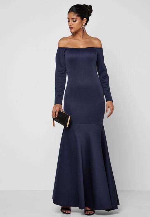 فستان بنمط ذيل سمكة