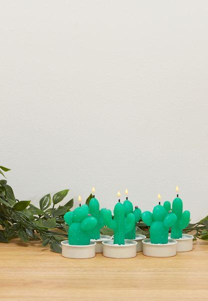 مجموعة شمع بشكل نبات الصبار
