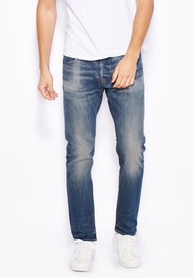 G-Star Raw Delm Stretch Slim Fit Mid Wash Jeans