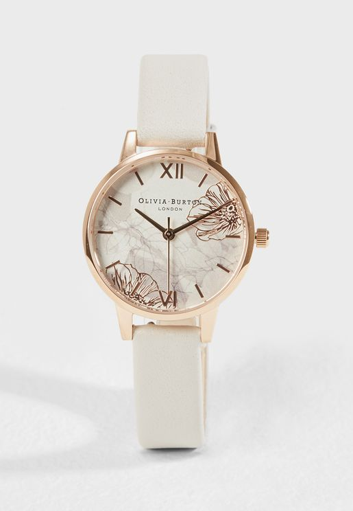Abstract Florals Analog Watch
