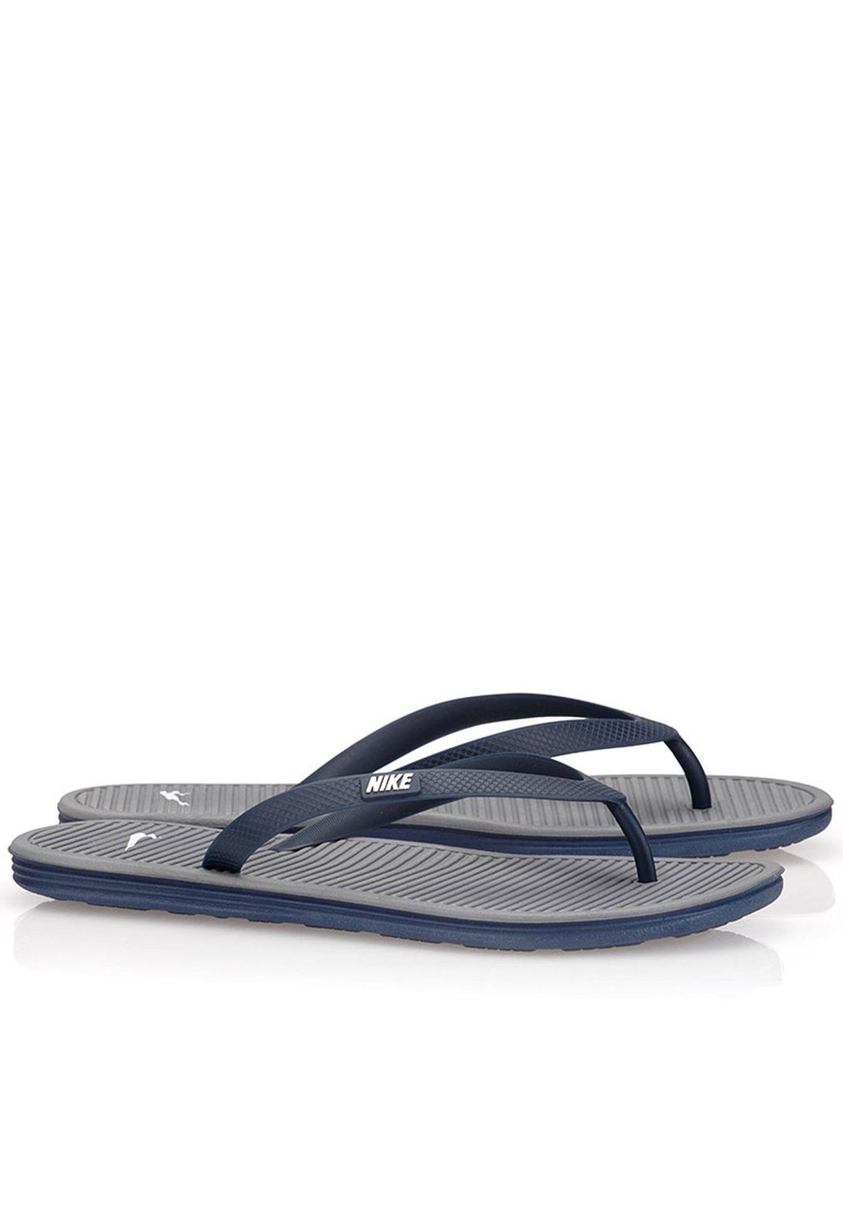 955753430871 Shop Nike grey Solarsoft Thong II 488160-410 for Men in Qatar - NI727SH21ILE