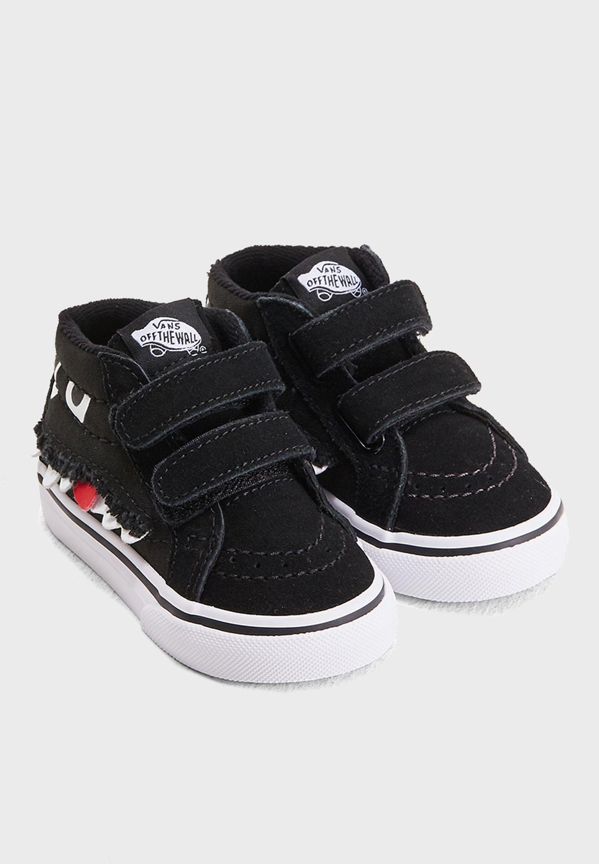 6d384705fe464 Shop Vans black Infant Monster Face SK8-Mid Reissue V 48JU4Q for ...