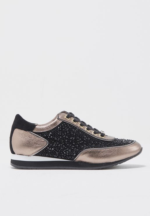 Scattered Crystal Detail Sneakers