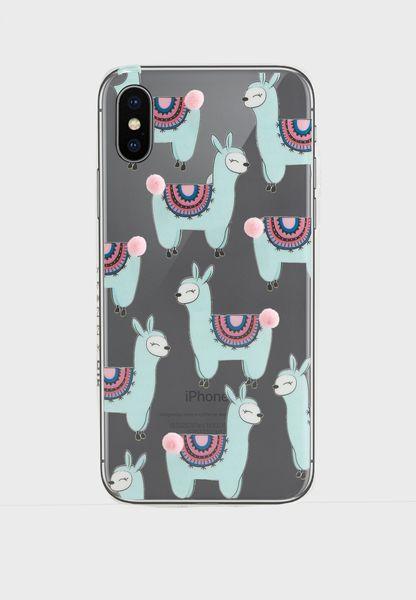 Llama Pom iPhone-X Case