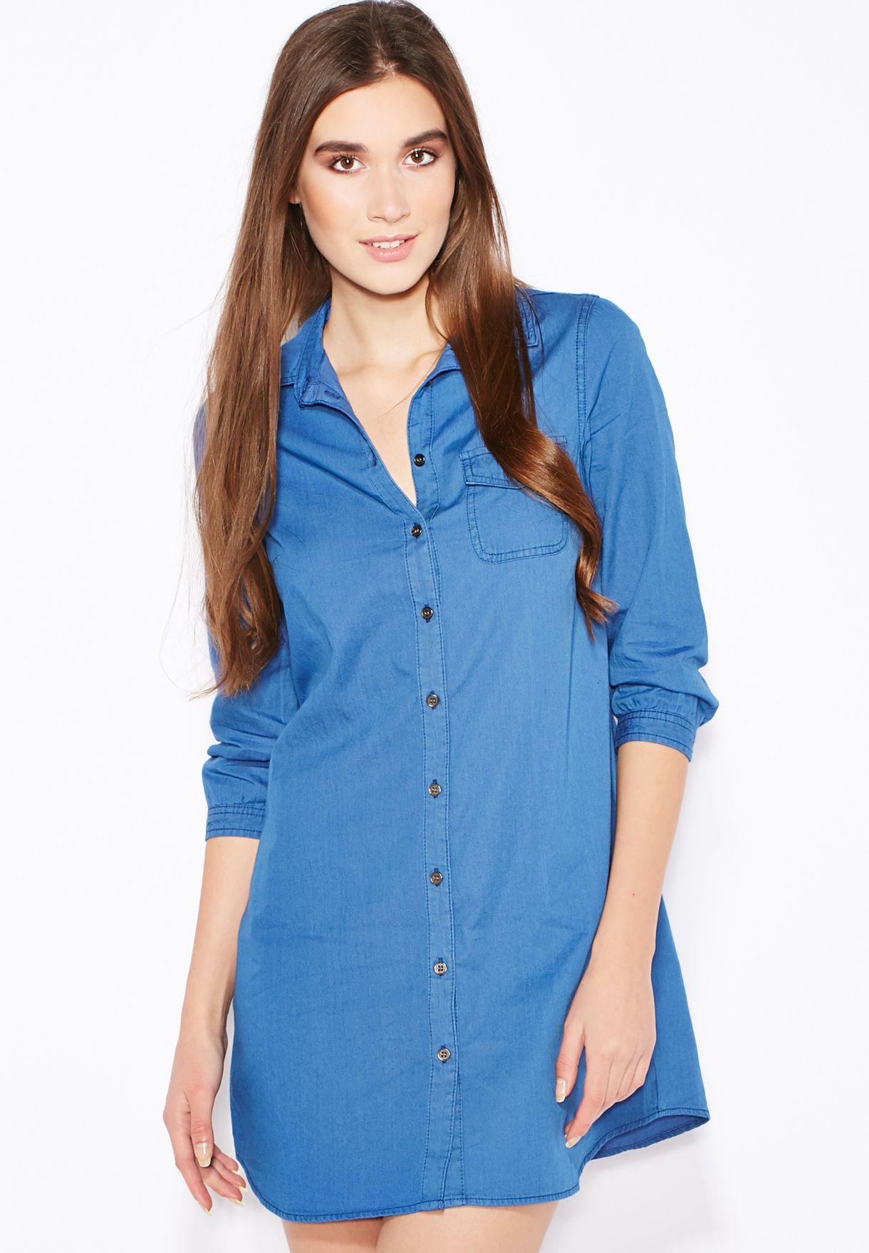 19cf1abb3 تسوق فستان جينز ماركة دوروثي بيركنز لون أزرق في عمان - DO860AT21WZY