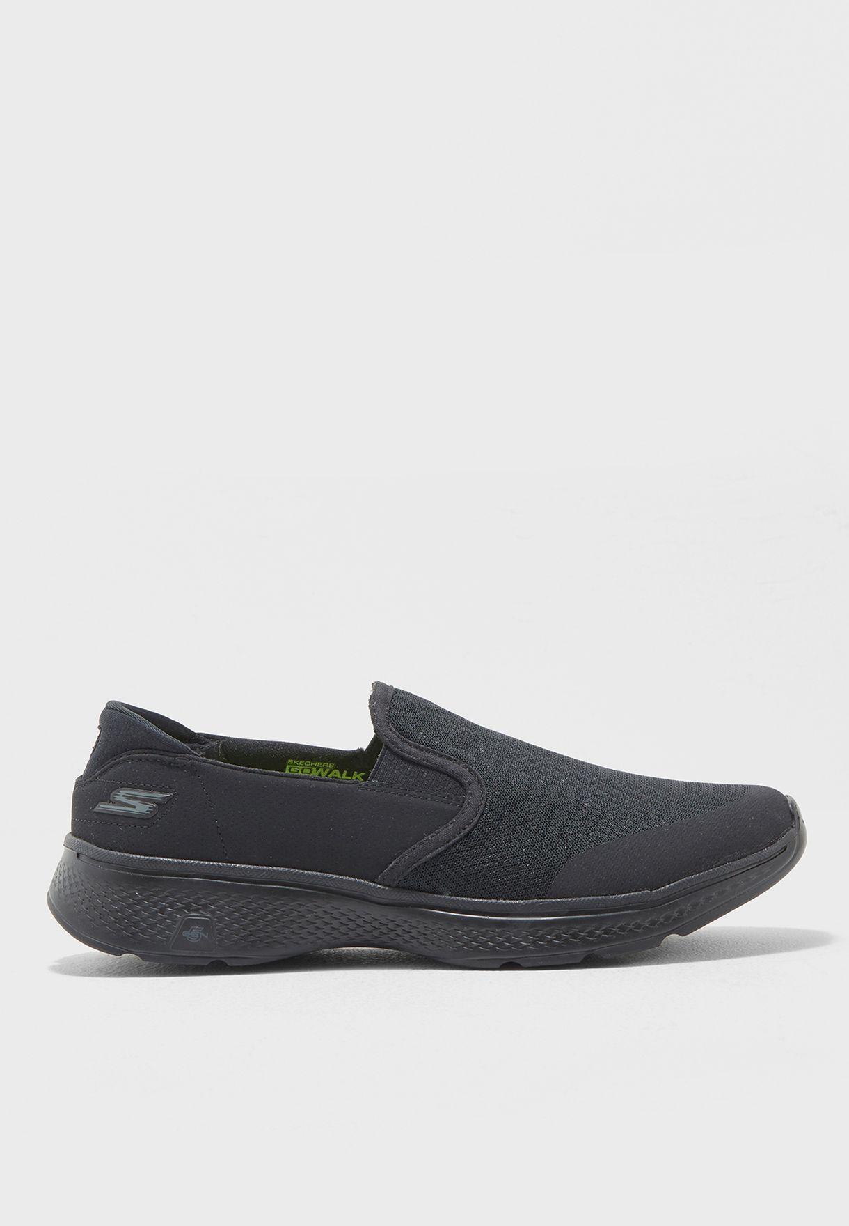 Skechers 54171 BBK Black Skechers Shoes Go Walk 4 Men's