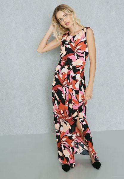 V Back Maxi Dress