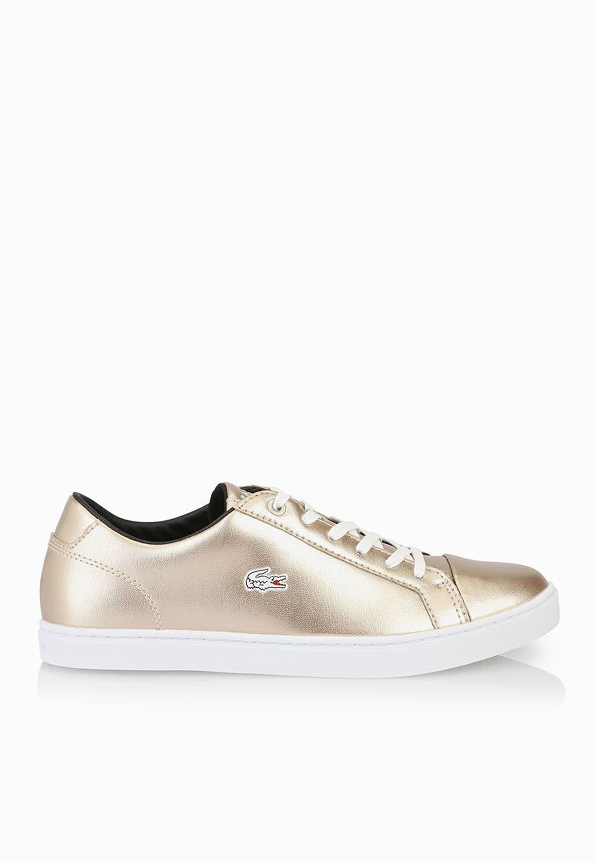 27322a0b7f4564 Shop Lacoste gold Showcourt RQT2 Sneakers 30SPW0018-SS1 for Women in ...