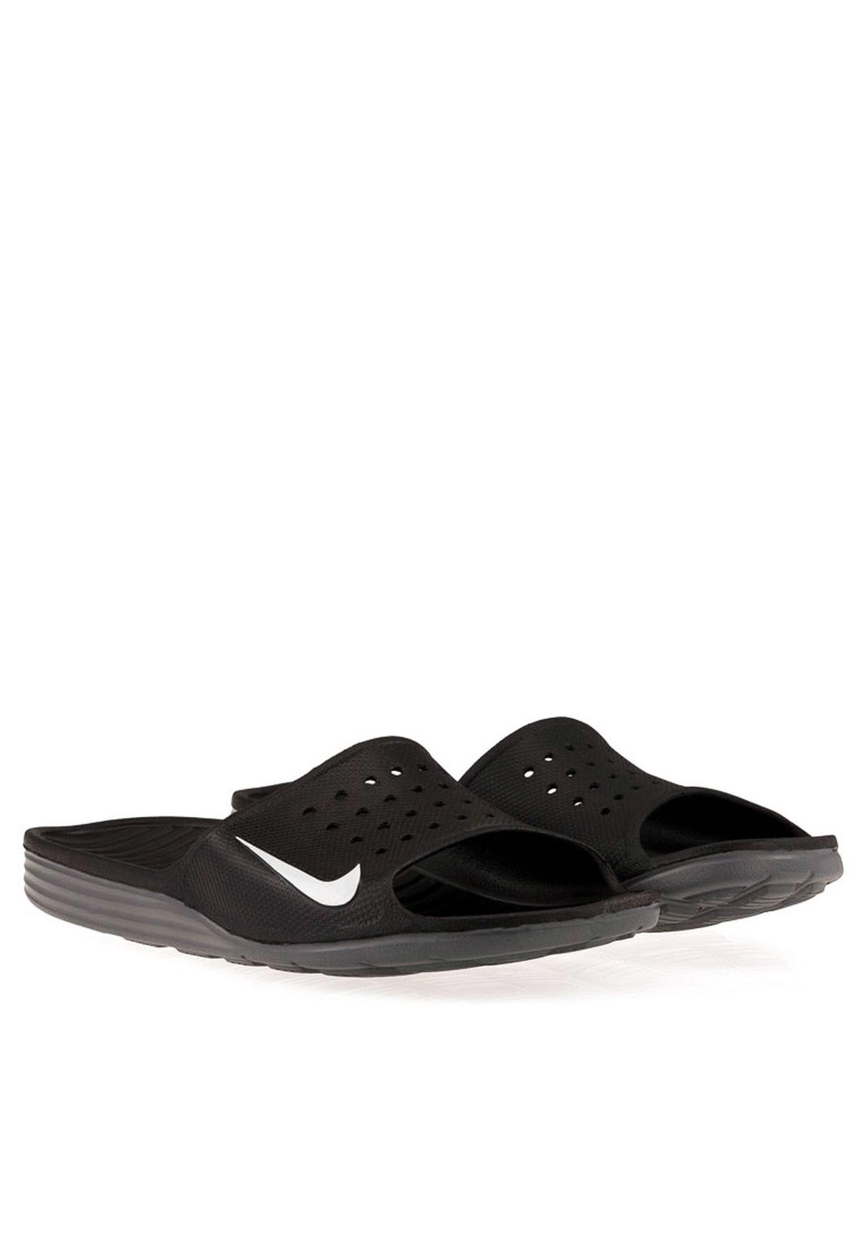 94a4c924eb08 Shop Nike black Solarsoft Slide 386163-011 for Men in Qatar - NI727SH21YPM