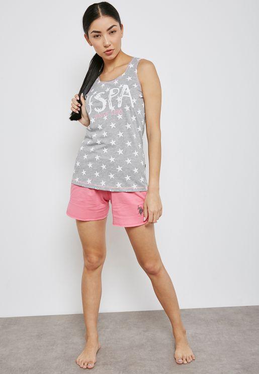 Printed Pyjama Shorts  Set