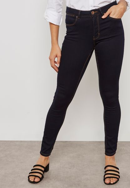 Bailey Mid Rise Super Skinny Stretch Jeans