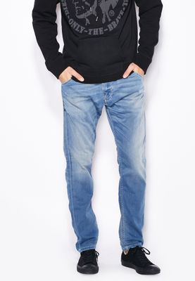 Diesel Krooley Slim Fit Light Wash Jeans