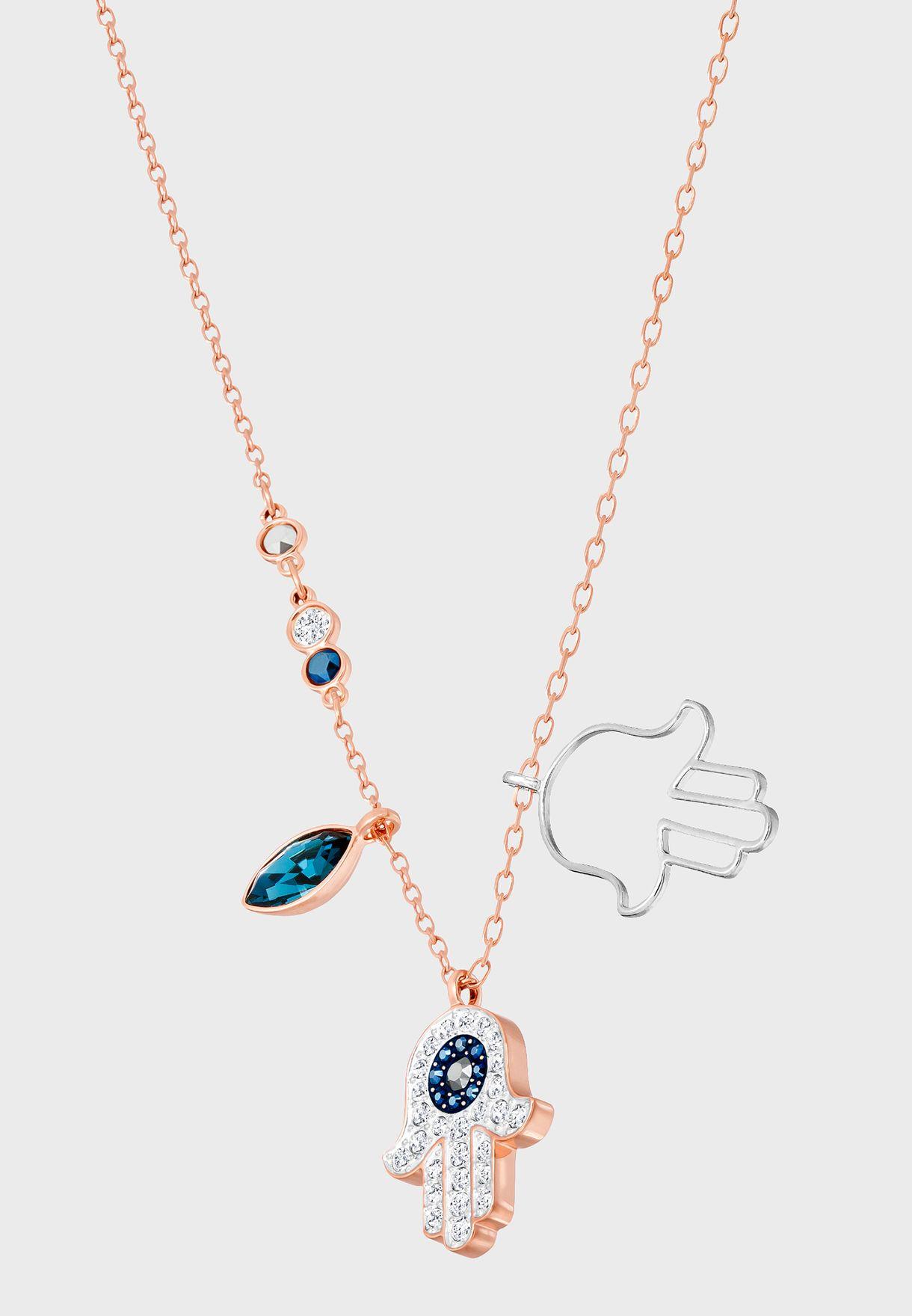 Duo Hamsa Hand Necklace